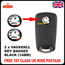 2 x NEW VAUXHALL KEY FOB BADGE EMBLEM 14MM STICKER FOR ASTRA ZAFIRA VECTRA CORSA
