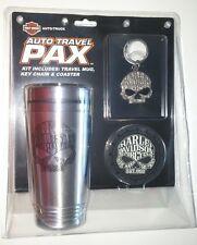 harley davidson HD travel mug cup coaster holder keychain coffee willie g skull
