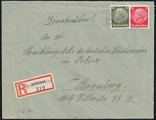 1711 POLAND GERMANY OCCUPATION REGISTERED COVER LINEAR CANCEL KIRCHEN-POPOWO