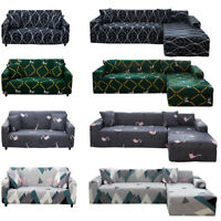 Stretch Elastic Slipcovers 1/2/3/4 Seater L shape Sofa Cover Sofa Couch Cover