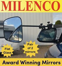 2 x Milenco Grand Aero 3 Extra Wide Flat Glass Caravan Towing Mirrors (1 Pair)