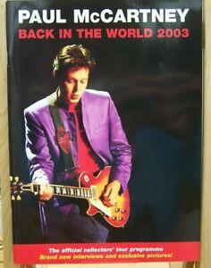 PAUL McCARTNEY TOUR PROGRAMME [BACK IN THE WORLD] 2003.
