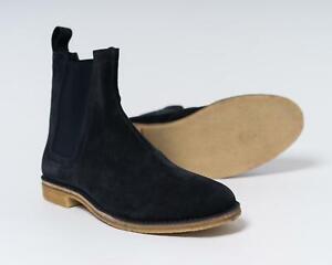 Bottega Veneta $820 NIB Dark Navy Blue Chelsea Boots Slip-On Shoes 44 eu 11 US