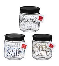 Vaso Giara 75cl Conserve Barattolo Vetro Decorato Sale Zucchero Caffè Bormiol...
