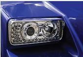 KENWORTH W900 T800 PROJECTOR HEADLIGHT W/ LED TURN SIGNAL RS K256-880-4R #40572