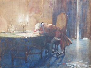 JAMES SHAW CROMPTON (1853-1916) RARE Original watercolour Despair Card Game 1880
