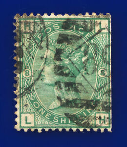 1873 SG148 1s Deep Green Plate 8 J108 LH London Good Used Cat £225 dfso