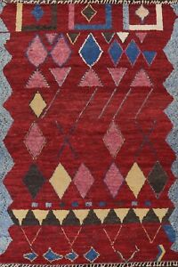 9x12 Geometric Tribal Moroccan Oriental Area Rug Hand-knotted Living Room Carpet
