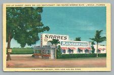 Sarres Drive-Inn Restaurant 1920 Silver Springs Blvd OCALA Florida—Vintage Linen