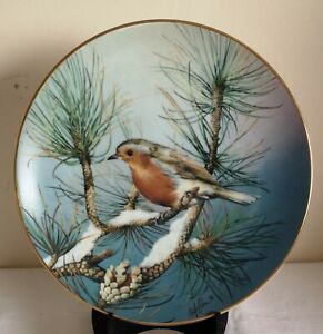 Hamilton Collection Colourful Bird of Britain's Heritage Collectors Plate Robin