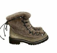 Aquatalia Women's Marvin K Lorena Shearling Suede Winter Boots Weatherproof 9.5
