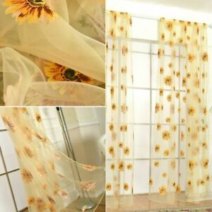 Sunflower Kitchen In Curtains Drapes Valances For Sale Ebay
