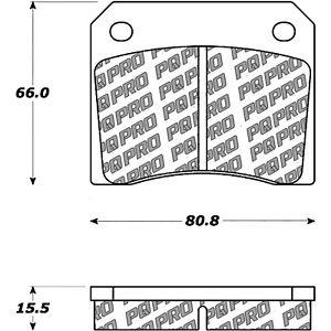 Disc Brake Pad Set-Base Rear,Front Centric 500.00090