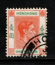 Hong Kong 1938 1952 King George VI One Dollar  SG 156 Used