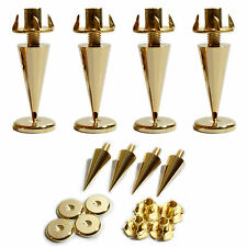 4x Premium Gold Speaker Spikes –Cabinet Base Support Stand–Noise Isolation Kit