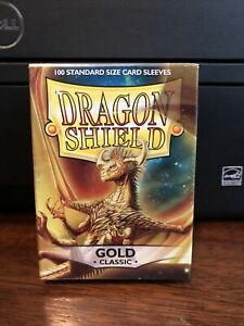 Dragon Shield Sleeves Pack of 100 Standard Size Card Sleeves GOLD Classic