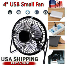 "4"" USB Mini Desk Fan Small Quiet Air Cooler USB Power Portable Office Table Fan"