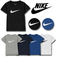 Nike Boys T Shirts Tops Short Sleeve Kids Infants Tee Junior Age 2 3 4 5 6 7 Yrs