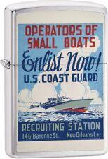 Zippo Vintage War Poster Operators of Small Boats US Coast Guard Lighter 29598