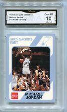 Michael Jordan North Carolina Collegiate College Collection Card gem mint 10 #15