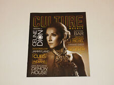 Culture Magazine March'18 Celine Dion Concert Preview Issue Rare New!