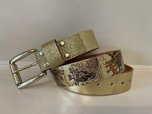 Ed hardy Gold Belt Christian Audigier Size L