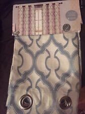 Cream/white lattice pattern curtains - Two 2 packs (4 Curtain Panels)