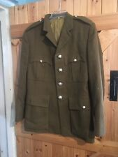 "Old Army Jacket Chest 34""  Army Dress Green. Army Surplus Jacket"