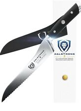 """Dalstrong Serrated Offset Bread Deli Knife Gladiator Series- 8""""- German HC Steel"""