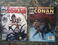 2 Savage Sword of Conan The Barbarian #161 & #162 Magazines MARVEL Comics H