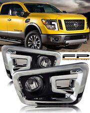 For 2016 2017 Nissan Titan Clear Lens Fog Light Full Complete Kit Switch+Harness