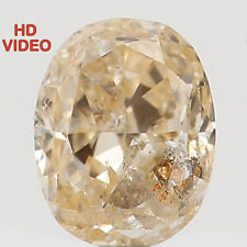 Natural Loose Diamond Oval I1 Clarity Orange Color 3.60 MM 0.15 Ct N5450