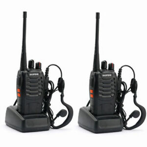 2 BAOFENG BF-888S RICETRASMITTENTE PMR RADIO UHF 400-470 MHz WALKIETALKIE  t1