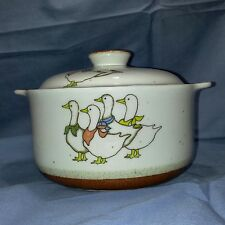 Vtg Otagiri Covered Casserole Dish  Geese Oven To Table