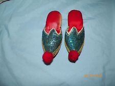 Vintage Handmade Childrens Moroccan Slippers