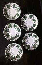 """5 Vintage Wedgwood Etruria England Napoleon Ivy 5 5/8"""" Saucer ( Queen's Ware)"""