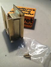 VINTAGE POLISHED BRASS SLIDING POCKET DOOR LOCK KWIKSET PASSAGE RV CAMPER 332