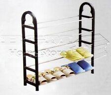 5 livelli in Metallo Scarpa Supporto Organizer Storage Rack Scaffali Ripiani Nuovo