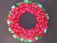 """Watermelon Summer"" Ribbon Wreath"