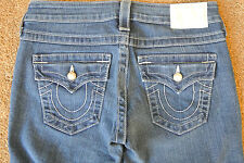 TRUE RELIGION BECKY  Jeans 26X33 NWOT$300 Distressed Wash! PEARL BUTTONS! SEXY!