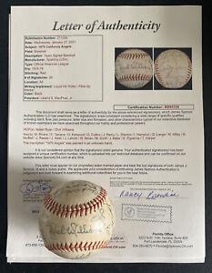 1975 California Angels Team Signed Baseball JSA LOA NOLAN RYAN DICK WILLIAMS