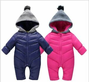 Snow Proof Baby Ski Snow Suit Infant Winter Snowsuit Hoodie Size 00 & 0 Only