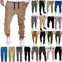 Mens Casual Long Pants Sports Running Fitness Joggers Pencil Trousers Sweatpants