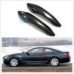 Carbon Fiber Door Handle Frame Trim For BMW F06 F12 F13 NO Conformt Access DN