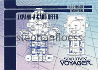 1995 Skybox Star Trek Voyager Series 1 Expand a Card Offer Insert #X-3 X3
