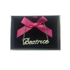 Collana nome BEATRICE con strass in acciaio 40 cm con scatolina regalo by VIRCA