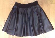 Zara Leather Patternless Skirts for Women