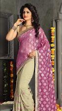Party wear half sari model with elegant border & Embroidery work designer Saree