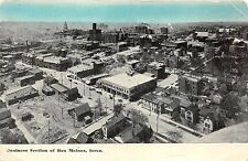 Des Moines Iowa~Business Section Bird's Eye View~1910 Blue Sky Postcard