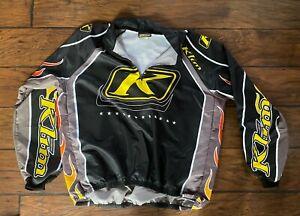 Klim Air Control flame quarter zipTeam Jersey Medium snowmobile motocross shirt